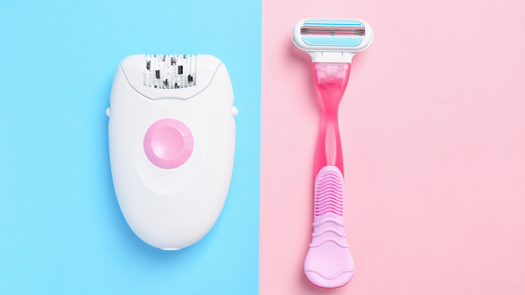 trimmer and razor hair removal
